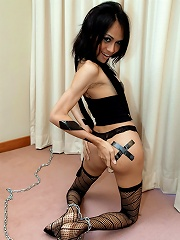 Long dicked Mint tied gagged and horny