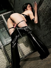 Badass shemale domme Foxi shows how bad she can be