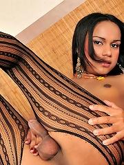 Hot shemale babe Jackeline Garcia fucked