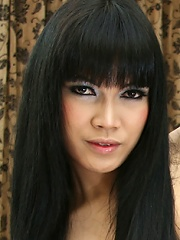 September Ladyboy of the Month Bee is has the seductive look mastered. Looking dreamy in black lingerie, Bee will the buzz of the town with her slight